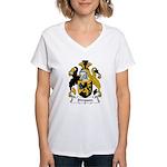 Simpson Family Crest Women's V-Neck T-Shirt