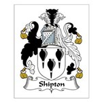 Shipton Family Crest Small Poster