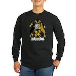 Shield Family Crest Long Sleeve Dark T-Shirt