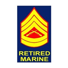 USMC Retired <BR>Gunnery Sergeant Decal
