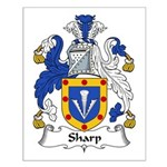 Sharp Family Crest Small Poster