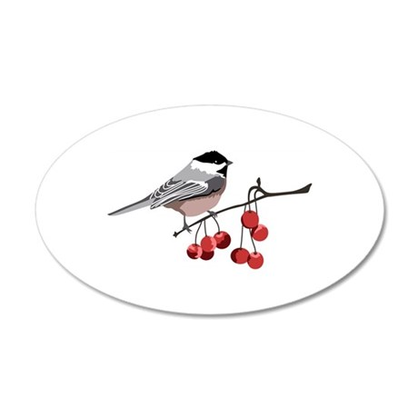 BLACK CAPPED CHICKADEE Wall Decal