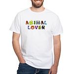 Animal Lover White T-Shirt