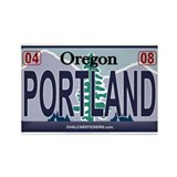 Oregon Plate - PORTLAND Rectangle Magnet