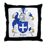 Segar Family Crest Throw Pillow