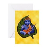 Baby Krishna Blank Greeting Card