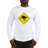 Skiing Kangaroo Long Sleeve T-Shirt
