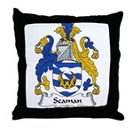 Seaman Family Crest Throw Pillow