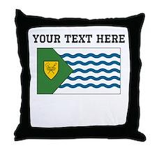 Custom Vancouver Flag Throw Pillow