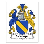 Scroope Family Crest Small Poster