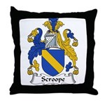 Scroope Family Crest Throw Pillow