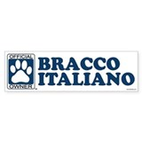 BRACCO ITALIANO Bumper Car Sticker