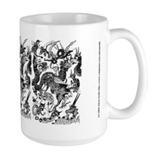 Black Multidragon Mug