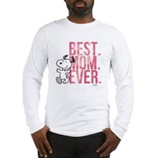 Snoopy Best Mom Ever Long Sleeve T-Shirt