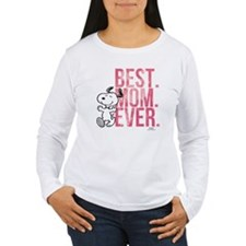 Snoopy Best Mom Ever Women's Long Sleeve T-Shirt