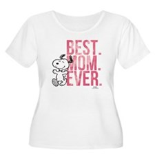 Snoopy Best M Women's Plus Size Scoop Neck T-Shirt