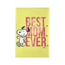 Snoopy Best Mom Ever Rectangle Magnet Magnets