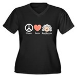 Peace Love Beethoven Plus Size V-Neck T-shirt