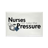 nurses can take the pressure Rectangle Magnet (10