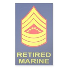 USMC Retired <BR>Master Sergeant Decal