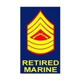 USMC Retired &lt;BR&gt;Master Sergeant Decal