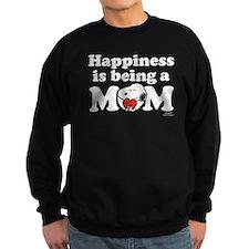 Happiness is being Mom Sweatshirt (dark)