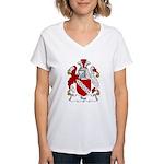Rye Family Crest Women's V-Neck T-Shirt