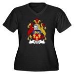 Rutter Family Crest Women's Plus Size V-Neck Dark