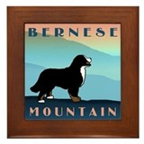 Bernese Blue Mountain Framed Tile