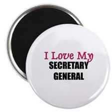 "I Love My SECRETARY GENERAL 2.25"" Magnet (10 pack)"