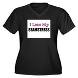 I Love My SEAMSTRESS Women's Plus Size V-Neck Dark