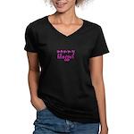 mommy blogger Women's V-Neck Dark T-Shirt