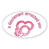 Lieutenant Arrested Oval Decal