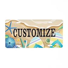 Summer Beach Custom Aluminum License Plate