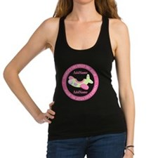Personalized Pink Airplane Big Racerback Tank Top