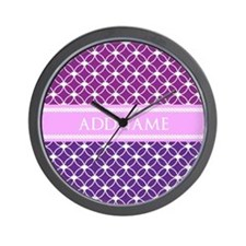 Personalized Purple Violet Eternity Lin Wall Clock