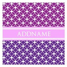 Personalized Purple Violet Invitations