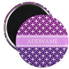 Personalized Purple Violet Eternity Links Magnet