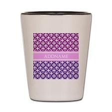 Personalized Purple Violet Eternity Lin Shot Glass