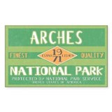 Arches National Park (Retro) Rectangle Decal