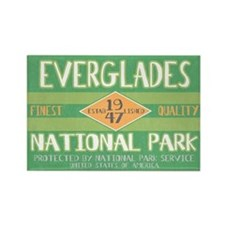 Everglades National Park (Retro) Rectangle Magnet