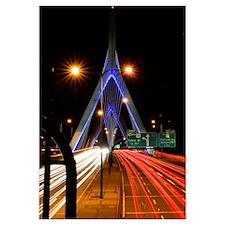 Zakim Bridge at Night