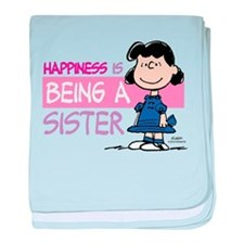 Happiness is being a Sister baby blanket