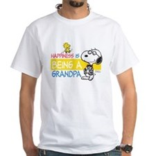 Happiness is being a Grandpa White T-Shirt