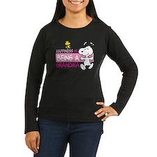 Happiness is bein Women's Long Sleeve Dark T-Shirt