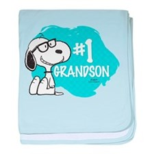 NumberOneGrandson baby blanket