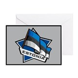 """Estonia Star Flag"" Greeting Card"