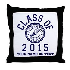 Class Of 2015 Track and Field Throw Pillow
