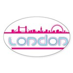 London city Oval Sticker