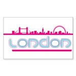 London city Rectangle Sticker